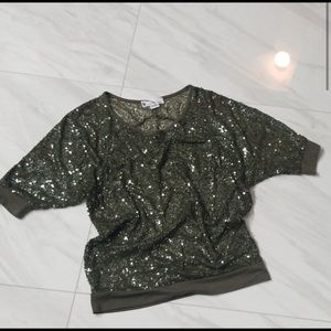 Imaginary Voyage Sequin Sparkly Top Large
